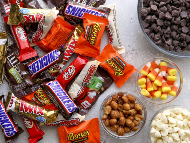 ingredients for halloween candy bardk