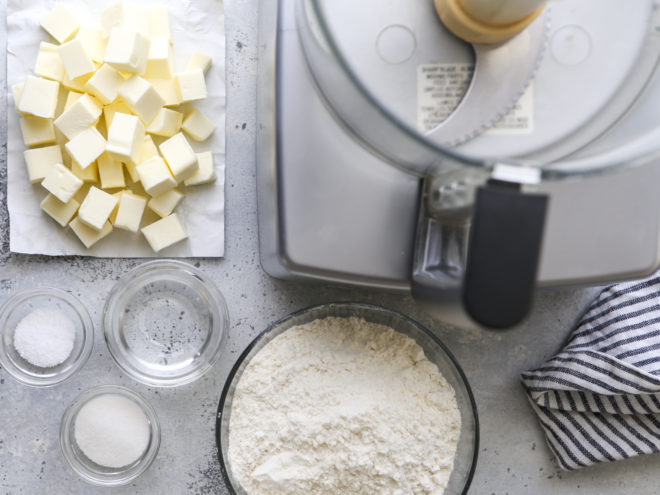 pie crust ingredients and food processor