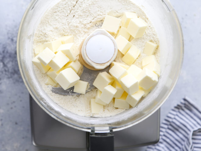add butter to food processor