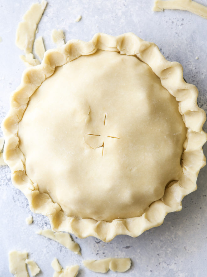 pie ready for oven