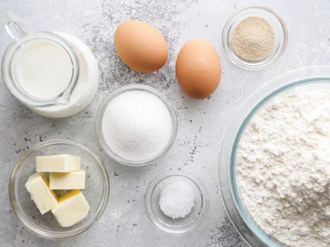 white dinner roll ingredients