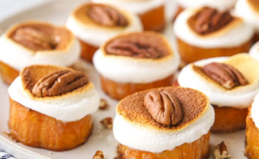 Sweet Potato Bites with Marshmallows and Pecans