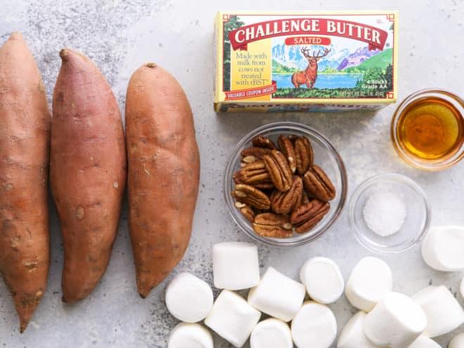 ingredients for sweet potato bites