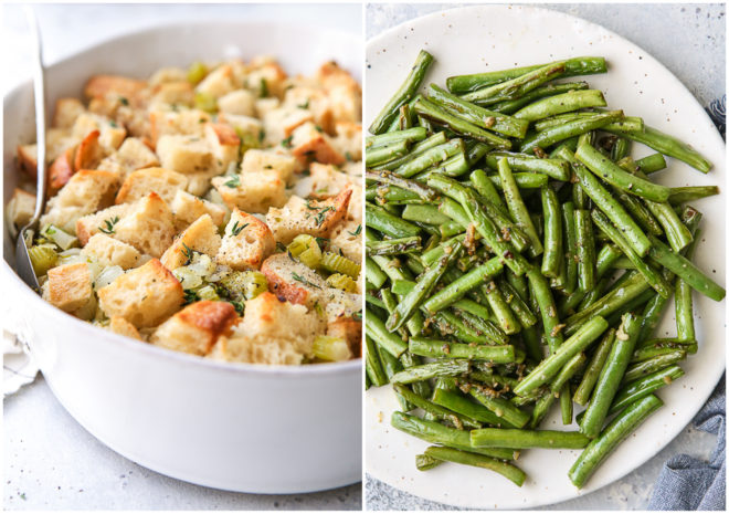 classic stuffing and green beans