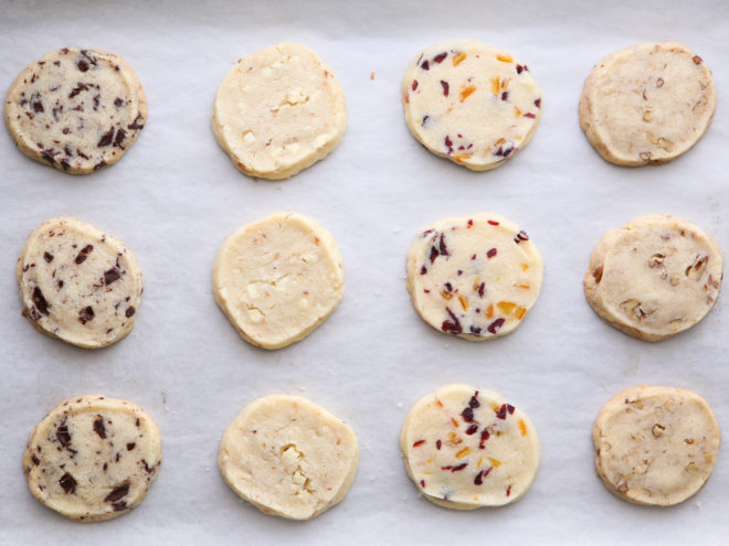 baked shortbread cookies