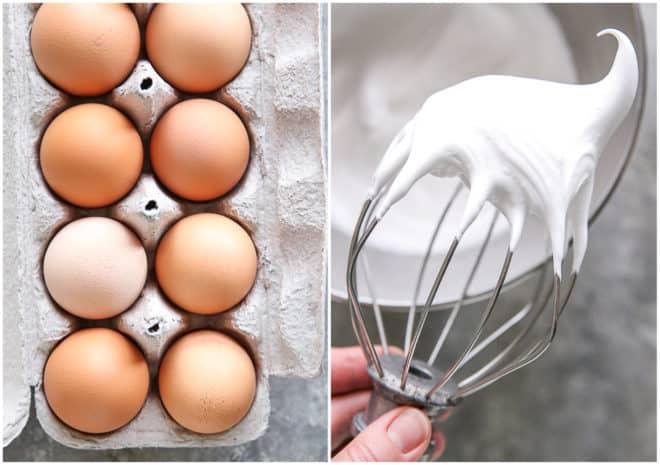 dozen eggs and whipped meringue