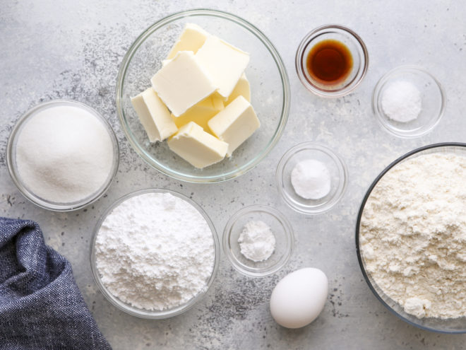 ingredients for sugar cookies