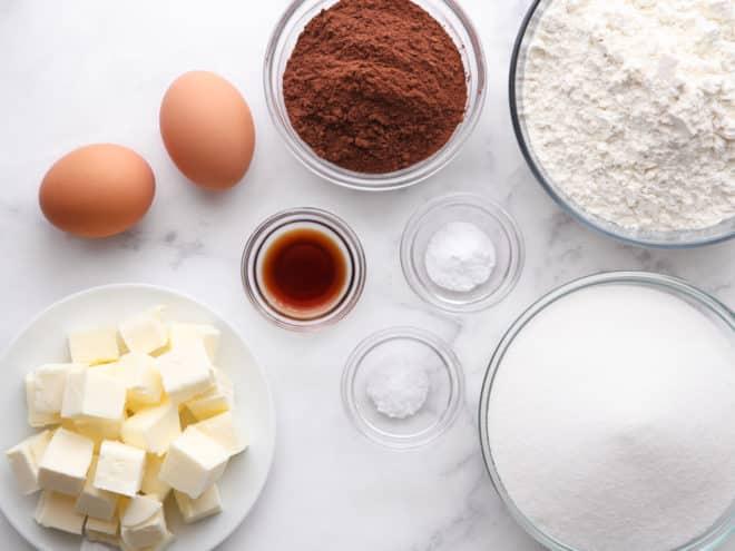 chocolate cookies ingredients
