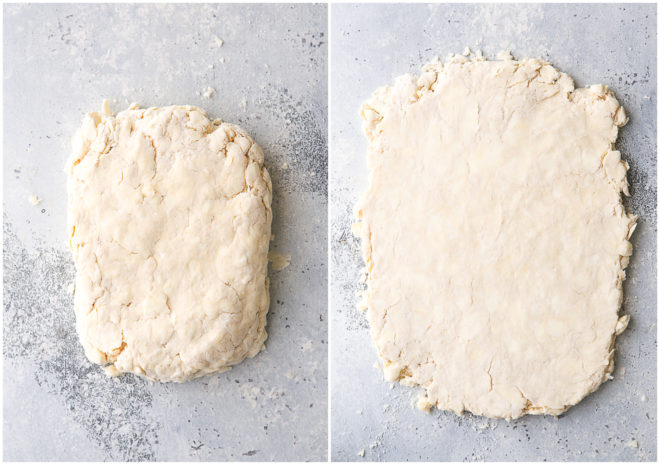 forming dough for first turn