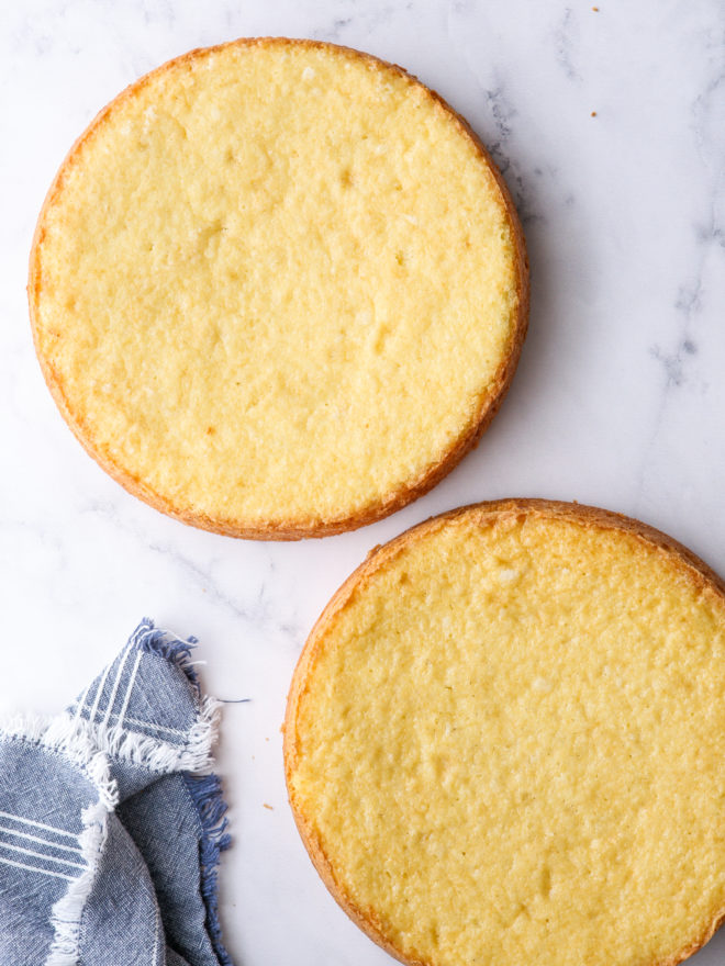 yellow cake layers