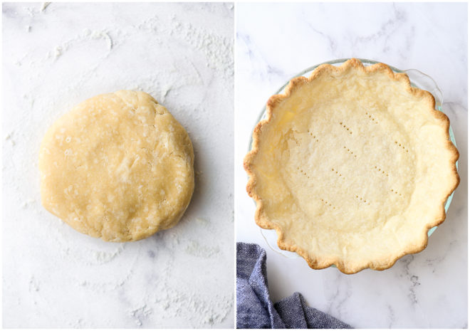 pie crust and baked pie shell