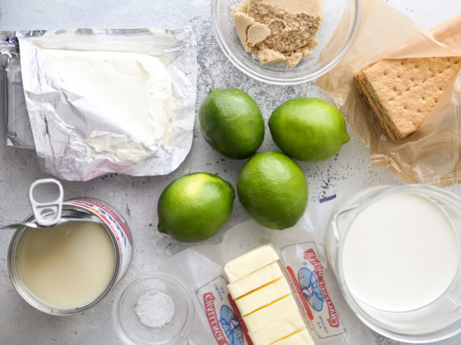 ingredients needed for lime cheesecake bars