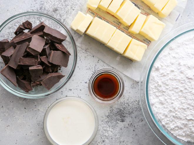 easy fudge buttercream ingredients