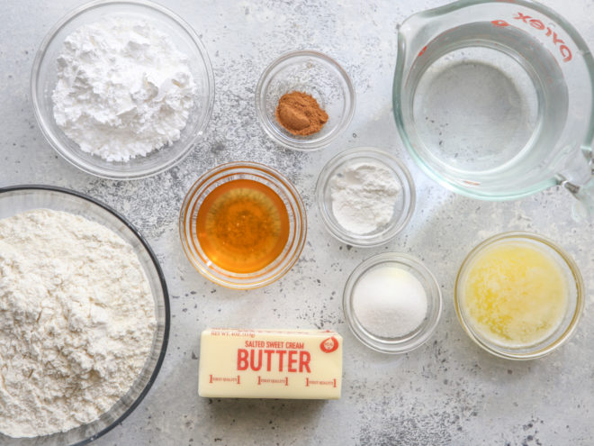 fry bread and cinnamon honey butter ingredients