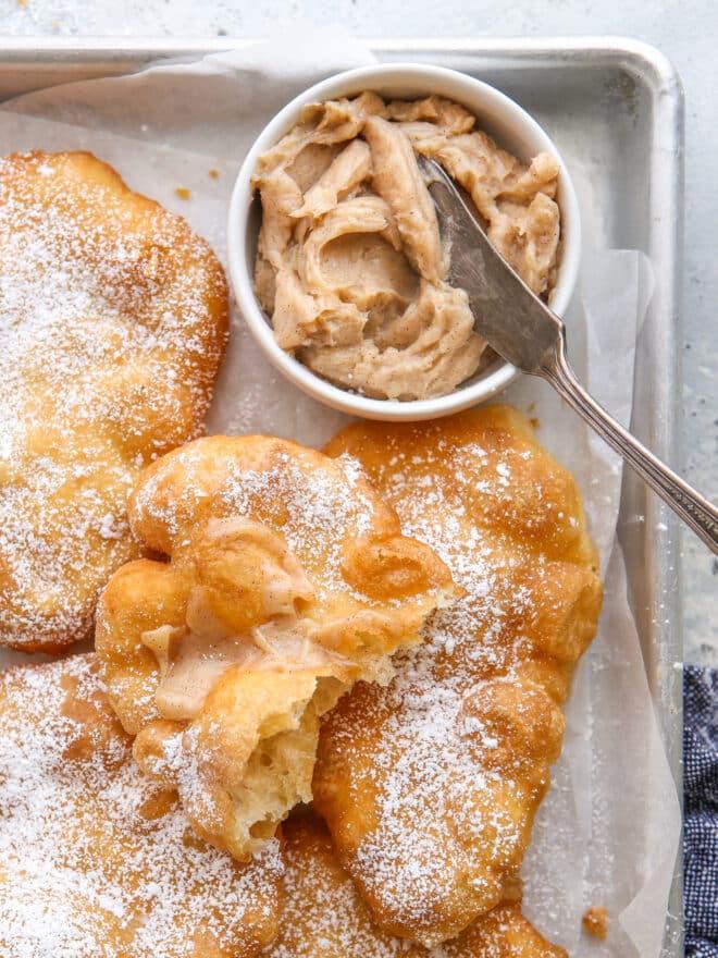 cinnamon honey butter slathered on fry bread