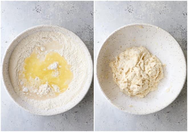 mixing fry bread dough