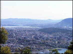 Hobart from atop