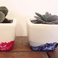 DIY : Pots effet aquarelle