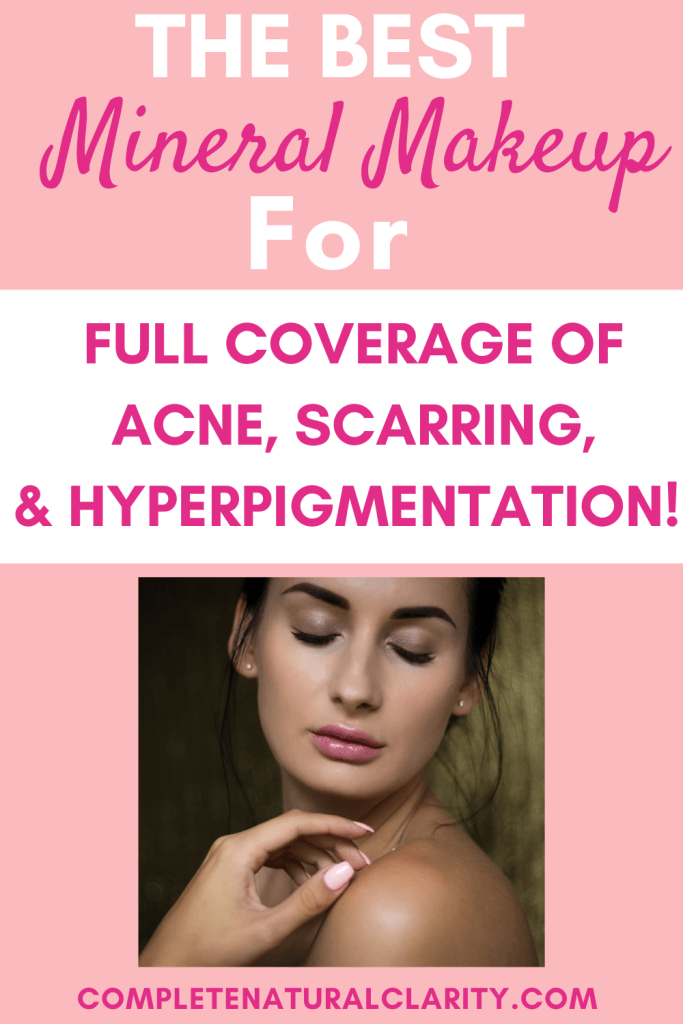 Full Coverage Mineral Makeup Routine with Before/After Photos using Pure Anada's Mineral Foundation, which is the ONLY mineral makeup I've ever found that offers maximum coverage of all skin concerns: acne, scarring, hyperpigmentation, & dermatitis! Click to read my full clean beauty makeup routine & find a bonus coupon code in the post! #mineralmakeup #pureanada #acnecoverage #fullcoveragefoundation #naturalconcealer #greenbeauty #cleanbeauty