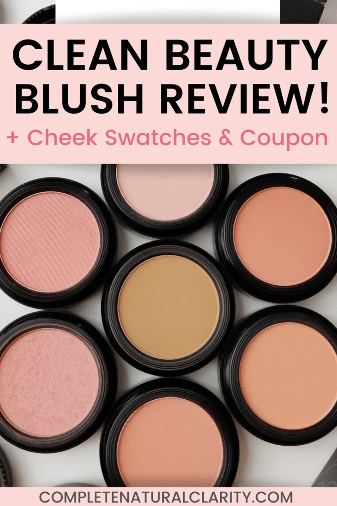 Red Apple Lipstick Blush Review with Cheek Swatches! Clean Makeup that's GOOD for your skin! Did you know that Red Apple Lipstick has a whole line of Pressed Mineral, Gluten-free, & Dye-free Blushes? Click to read my full review with coupon code! One shade is a #narsorgasmdupe ! #redapplelipstick #blush #mineralmakeup #greenbeauty #organicbeauty #nontoxicbeauty #cleanbeauty #greenbeautyreviews