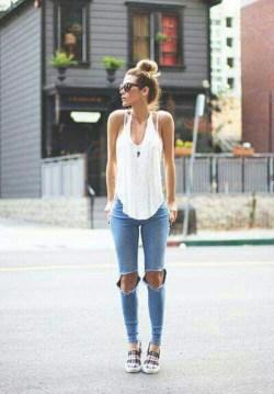夏の着痩せコーデ⑥筋肉質体型タイプは「Iラインを作る」1