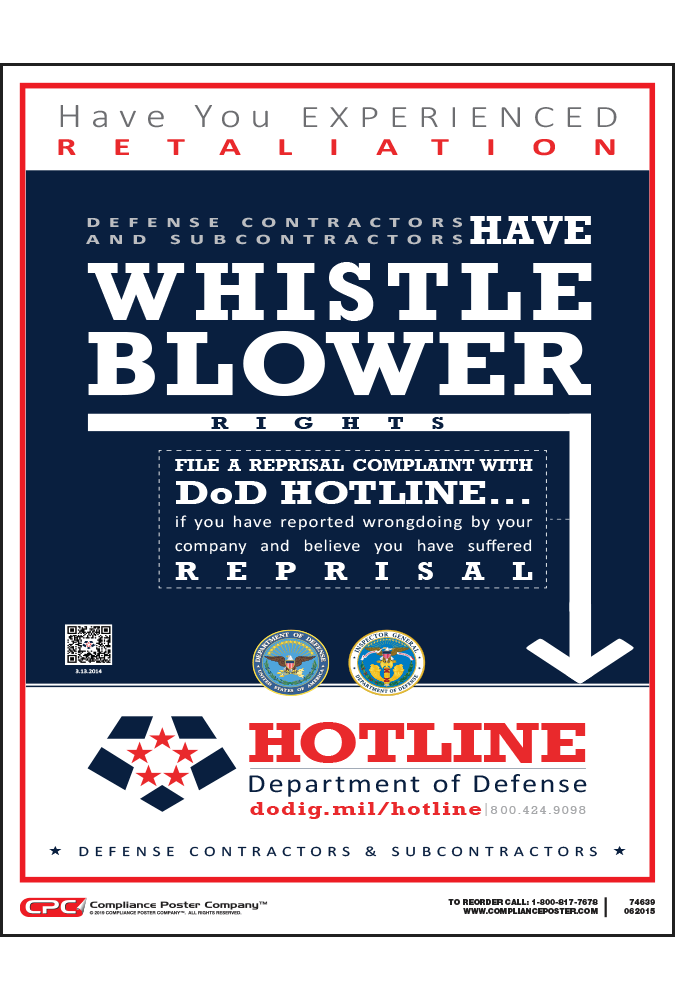 defense contractor whistleblower poster