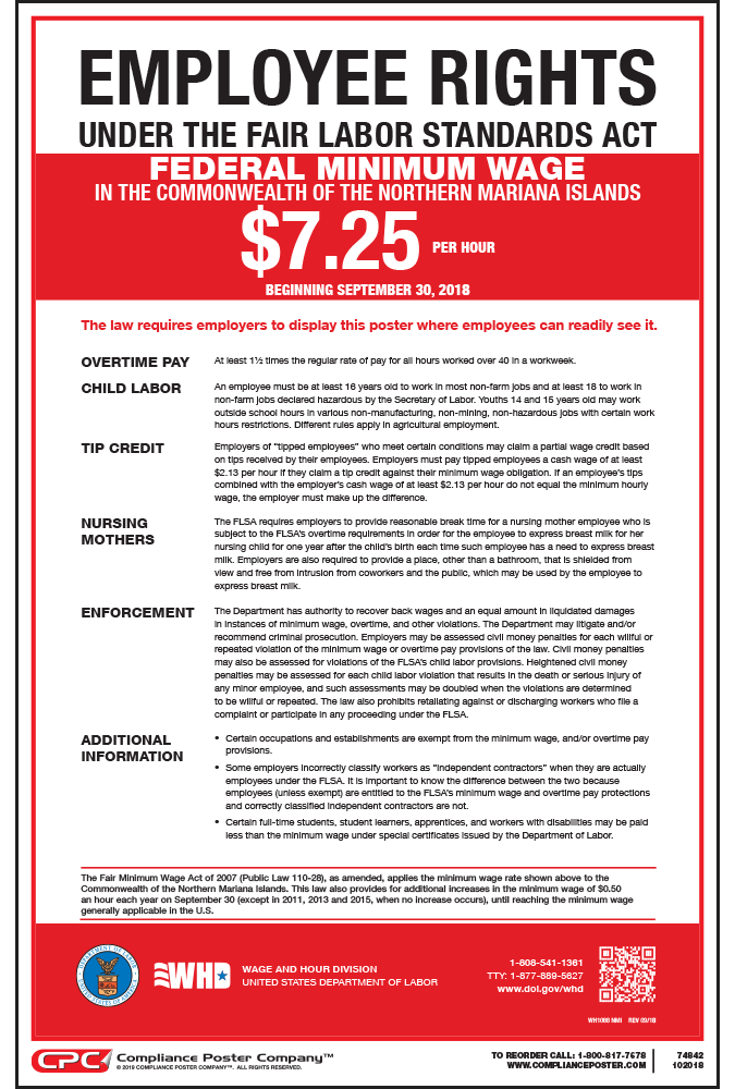 northern mariana islands minimum wage poster