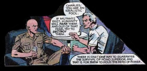 Magneto describes his policy of mutant liberation.