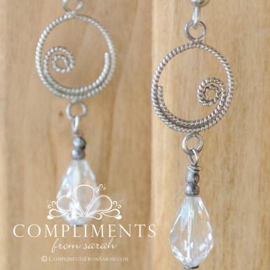 swarovski crystal swirl drop earrings