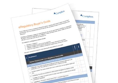eRegulatory Buyer's Guide