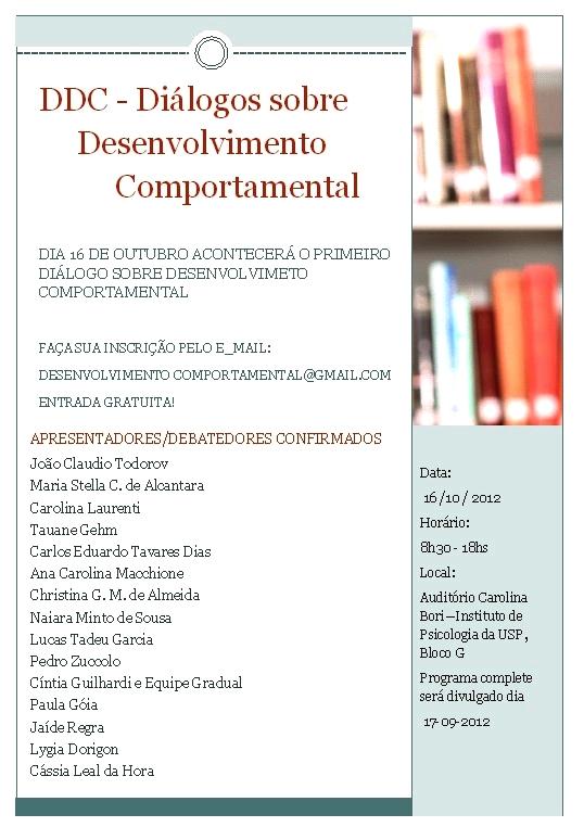 Diálogos sobre Desenvolvimento Comportamental - São Paulo/SP 5