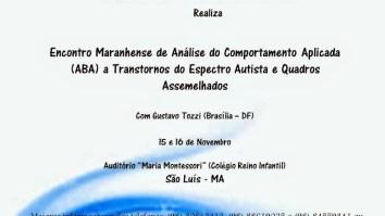 Encontro Maranhense de Análise do Comportamento Aplicada (ABA) - São Luís/MA 19