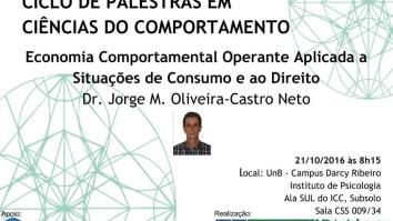 """Palestra: """"Economia Comportamental Operante Aplicada a Situações de Consumo e ao Direito"""" 13"""