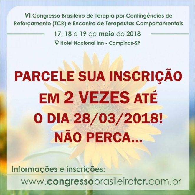 Desconto no VI Congresso Brasileiro de Terapia por Contingências de Reforçamento e Encontro de Terapeutas Comportamentais 5