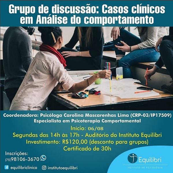 Grupo de discussão de casos clínicos em Análise do Comportamento - Instituto Equilibri 5