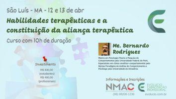 """Curso: """"Habilidades Terapêuticas e a Construção da Aliança Terapêutica"""" 9"""