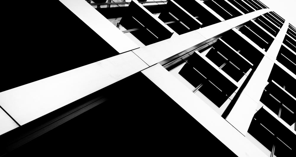 Black and white London architecture photography