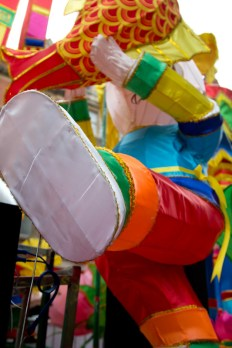 Parade float decorations