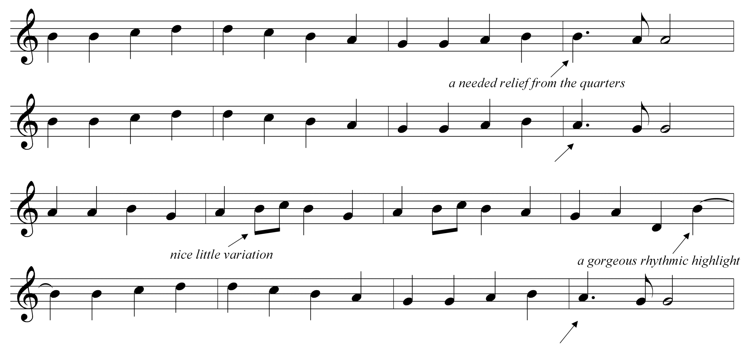 A Good Melody Rhythm