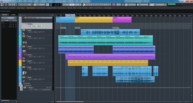 interface de cubase 8