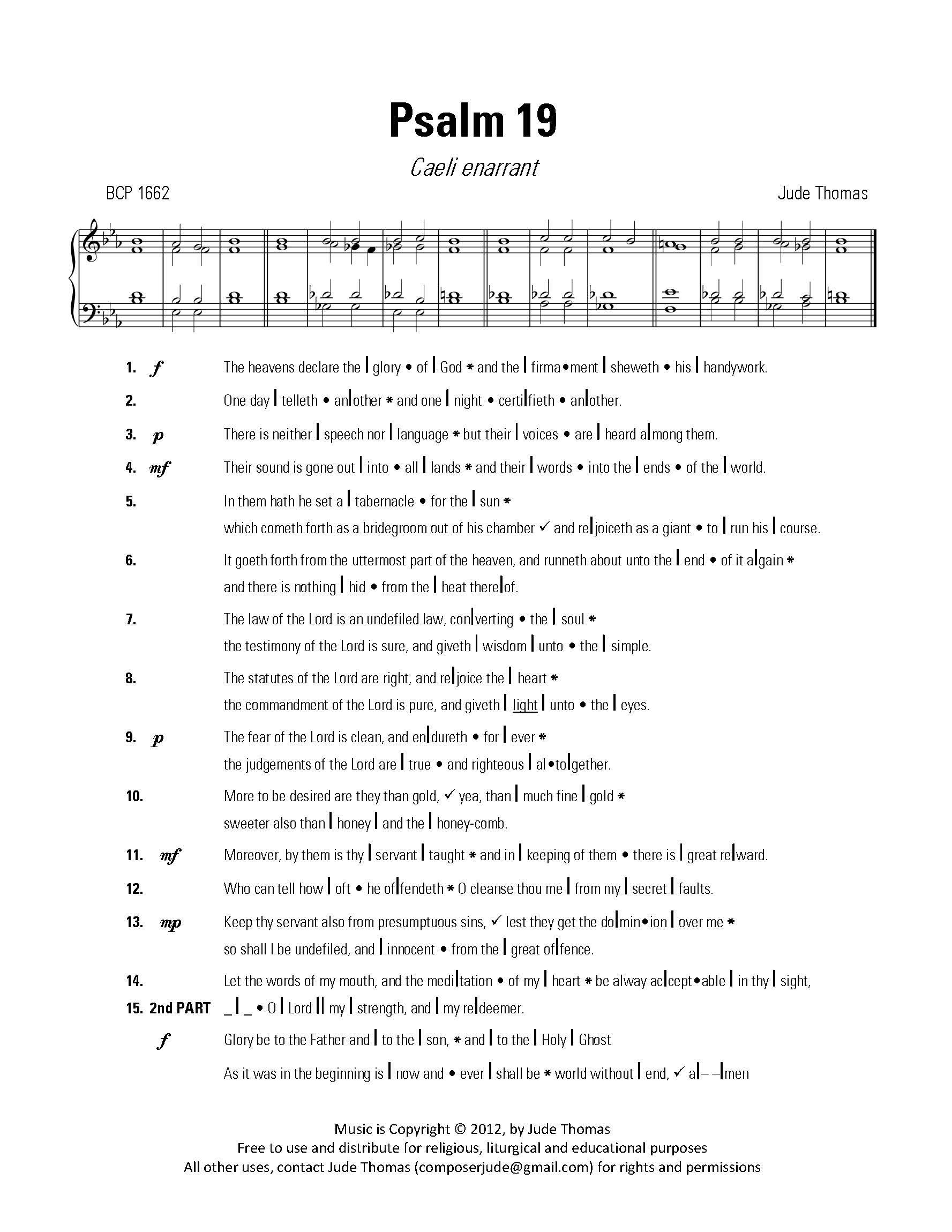 caeli enerrant a new anglican psalm chant jude thomas