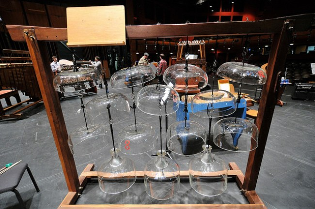 Harry Partch's Cloud Chamber Bowls (Photo by Steven N. Severinghaus)