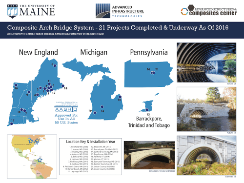 2016 Composite Arch Bridge Installation Map