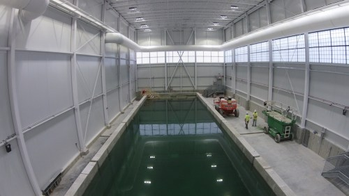 Inside view of the Alfond W2 Ocean Engineering Lab form May 26, 2015.