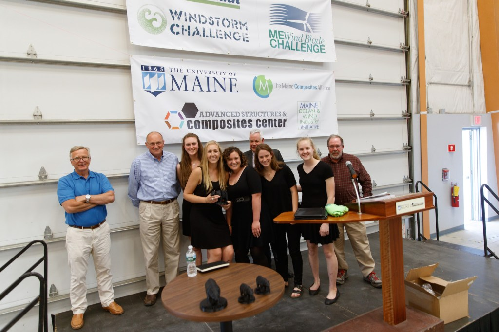 9th Annual Wind Blade Challenge Winning Team from Orono High School