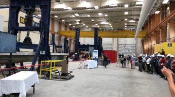 UMaine performs test on innovative bridge girder made of composite materials