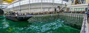 A photo of the world's largest 3D printed boat