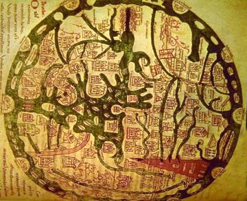 Mappamundi 11th Century Isidore of Seville Etymologiarum