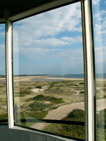 Looking out the lantern room window