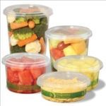 Asean Corporation Clear, Corn Based Deli Containers with Lids